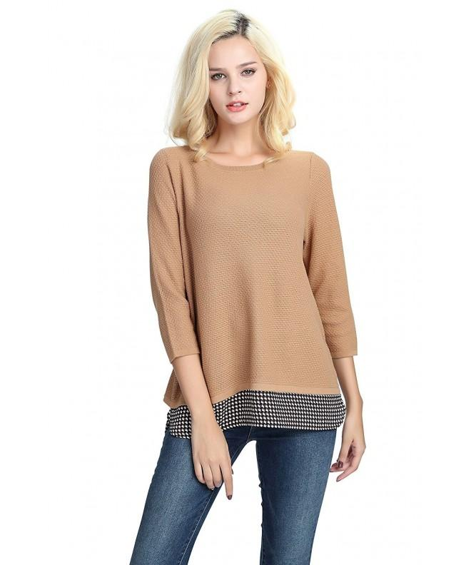 Womens Sweater Pullover Autumn Layered
