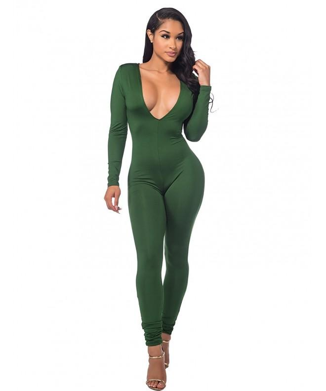 Sedrinuo Womens Jumpsuit Stretch Bodycon