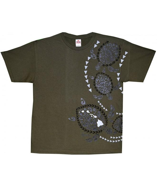 Kauai Imprint Pre Shrunk T shirt Military