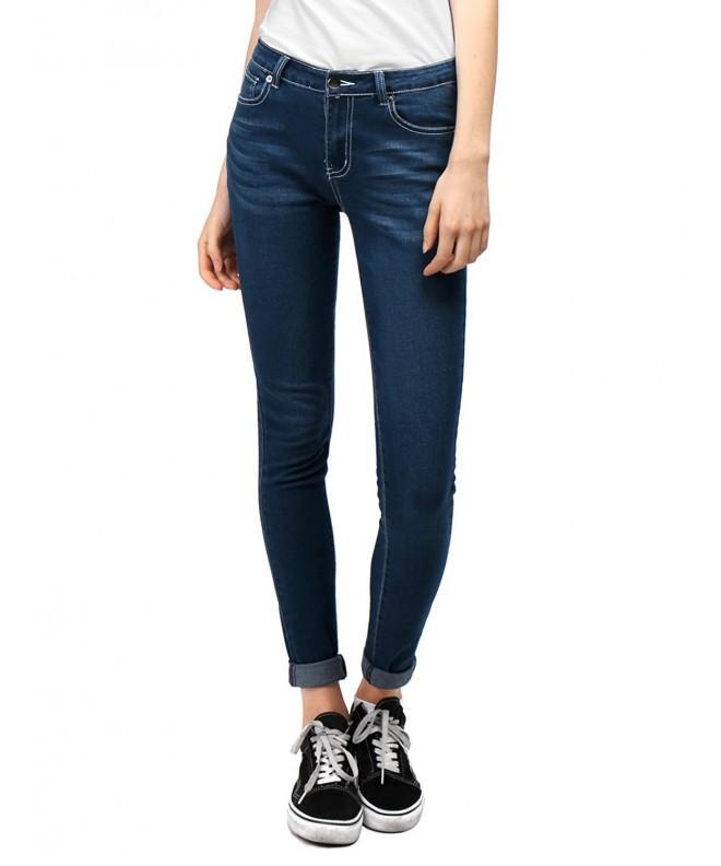 Allegra Women Pockets Skinny Jeans