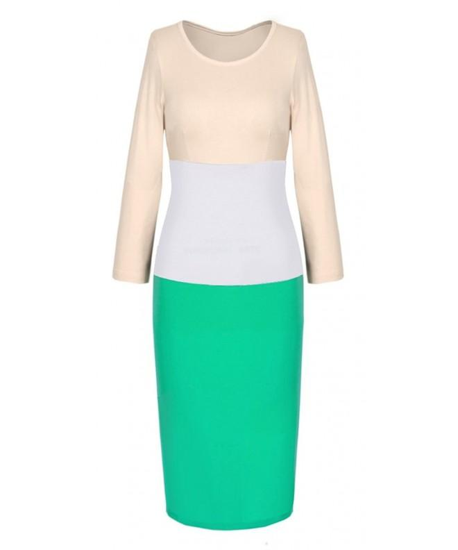 Homeyee Womens Voguish Bodycon Colorblock