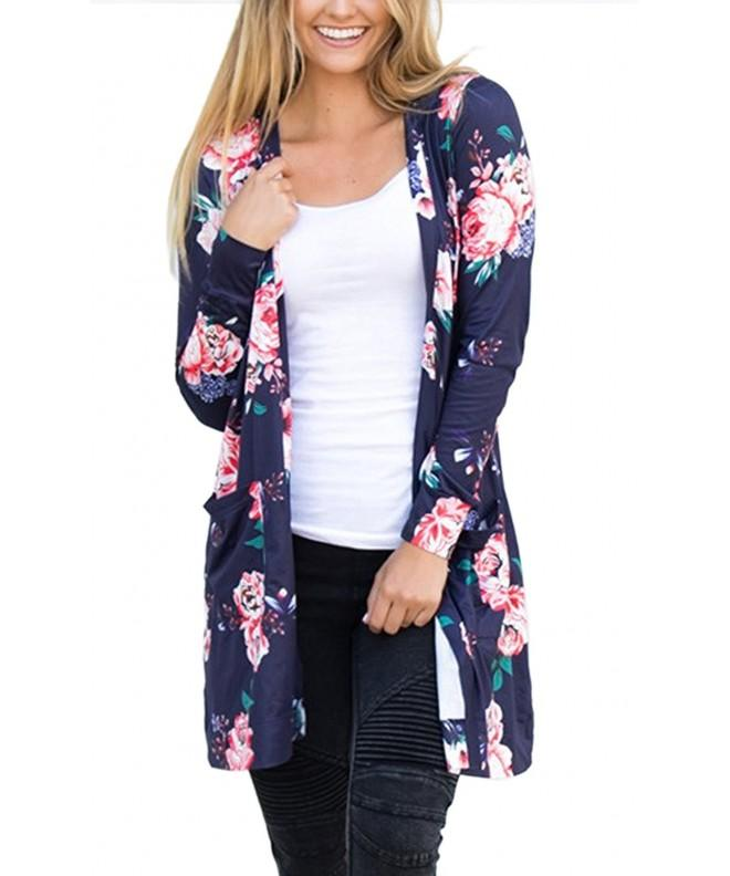ECOWISH Irregular Cardigans Coverup Outwear