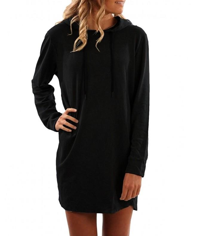 SUNNYME Womens Pullover Drawstring Sweatshirt