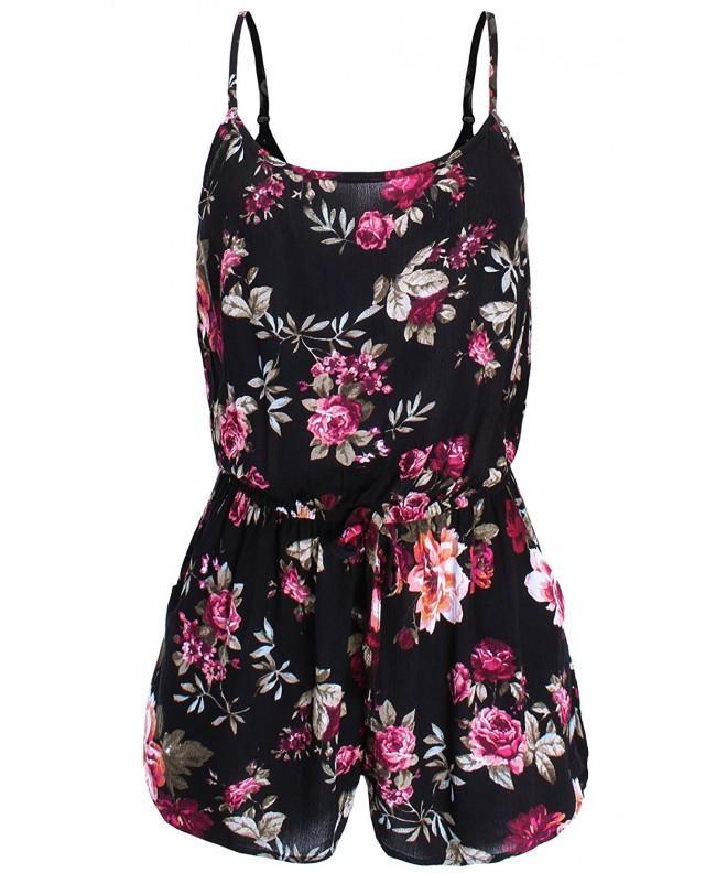 Ladies Code Sleeveless Floral Pockets