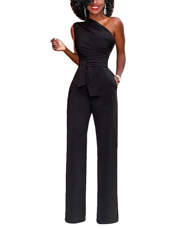 Molisry Casual Shoulder Waisted Jumpsuits
