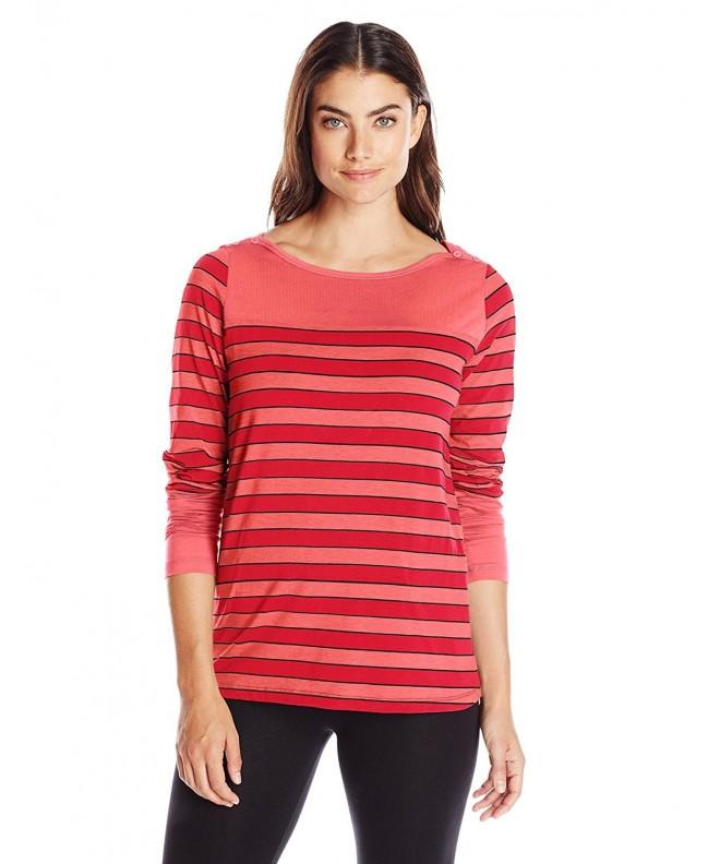 LOLE Womens Carnelian Multi Stripe Medium