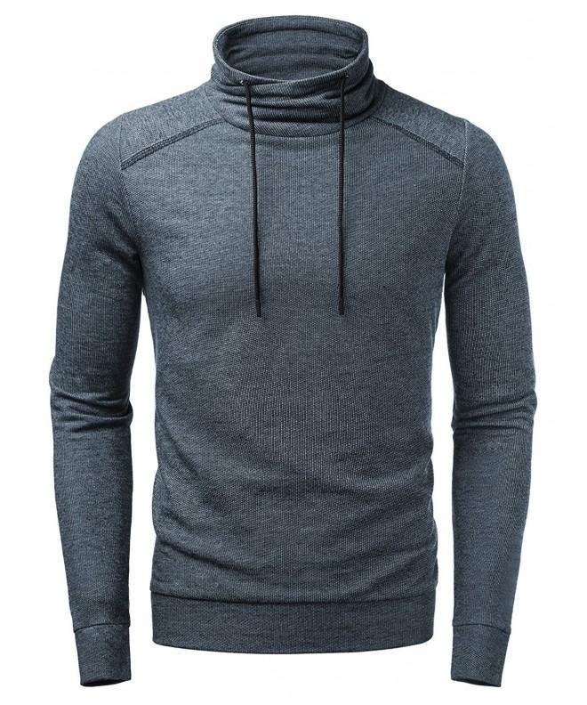 HEMOON Knitted Drawstring Pullover Sweatshirt