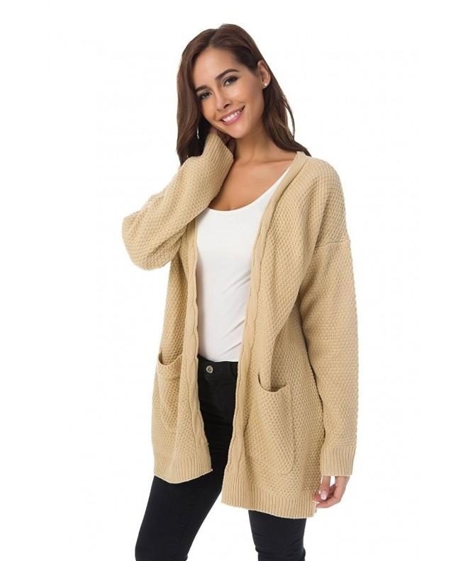 XINAO Womens Casual Cardigans Sweater