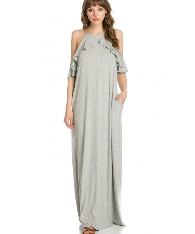 My Space Clothing Cold Shoulder Heather