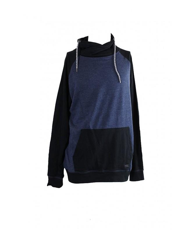 Univibe Heathered Fleece Funnel Neck Sweatshirt
