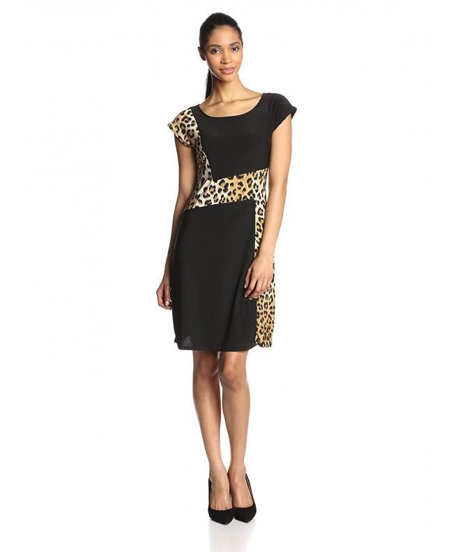 Star Vixen Womens Leopard Colorblock