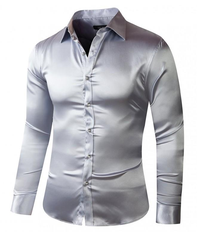 ZERDSKY Slim Fit Satin Silver Medium