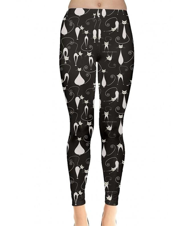 CowCow Pattern Design Leggings Black L