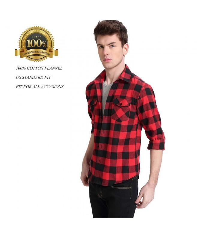 MCEDAR Flannel Shirts Long Sleeve Hanging