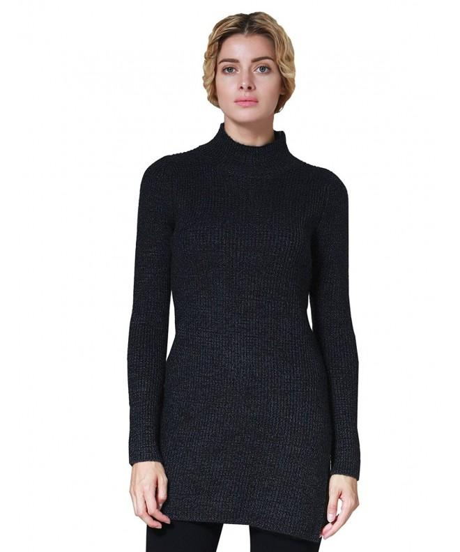 ninovino Mock Neck Melange Sweater Black S