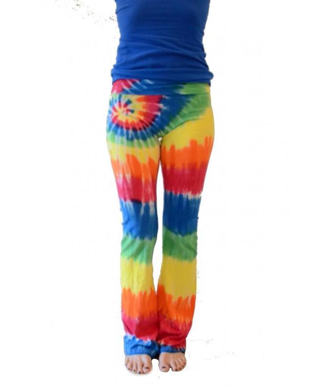Colortone Tie Yoga Pants Rainbow