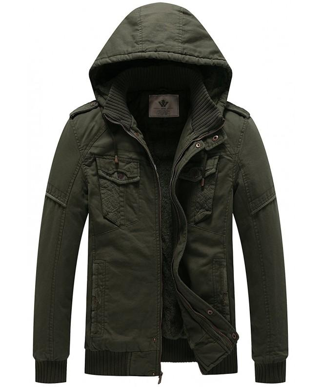 WenVen Military Parka Outerwear Jacket