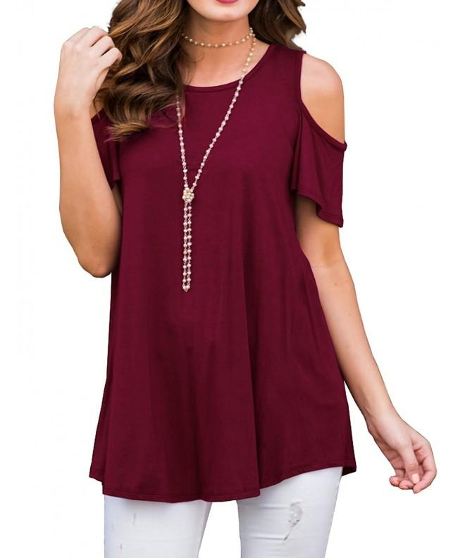 PrinStory Womens Sleeve Casual Shoulder