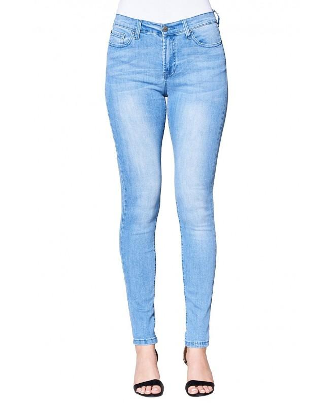 Glamsia Womens Skinny Jeans Light