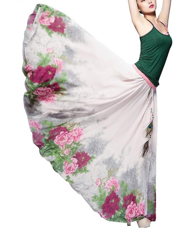 Morovigo Womens Blending Chiffon Vintage