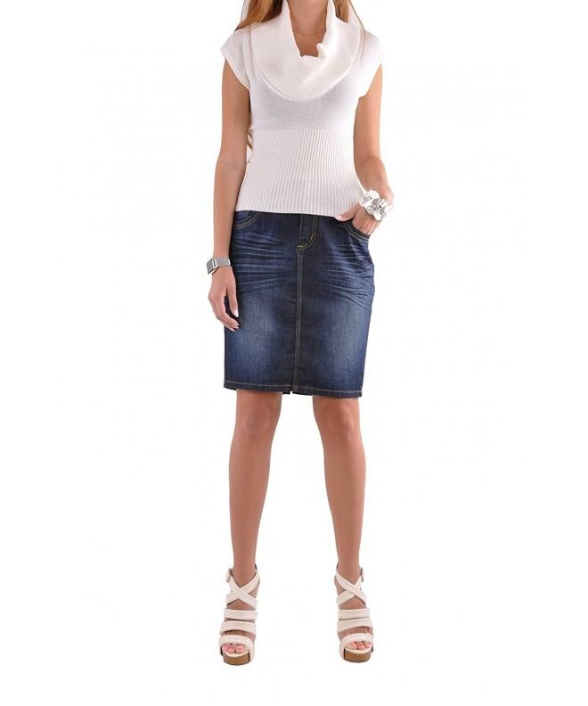 Style Cute Classy Pencil Skirt Blue 36