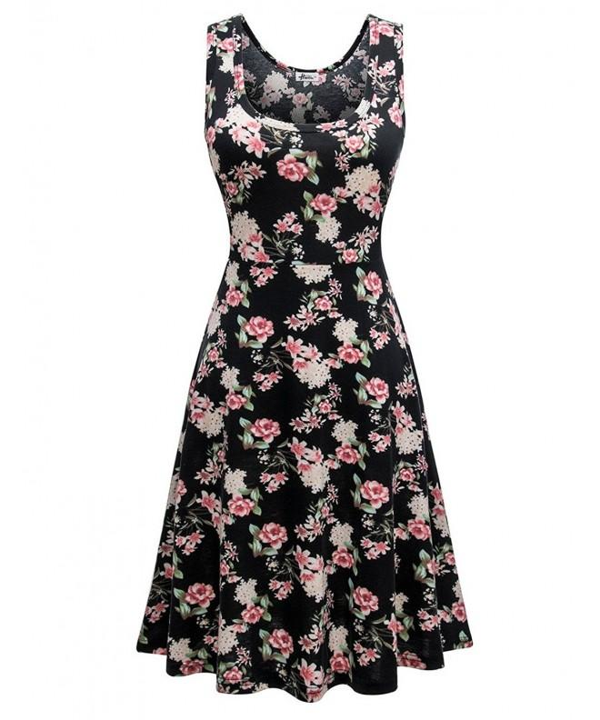 Herou Sleeveless Casual Flared Flower C