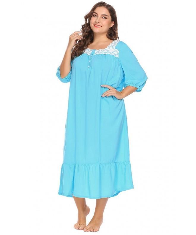 Acecor Womens Sleeve Sleepwear Nightgown