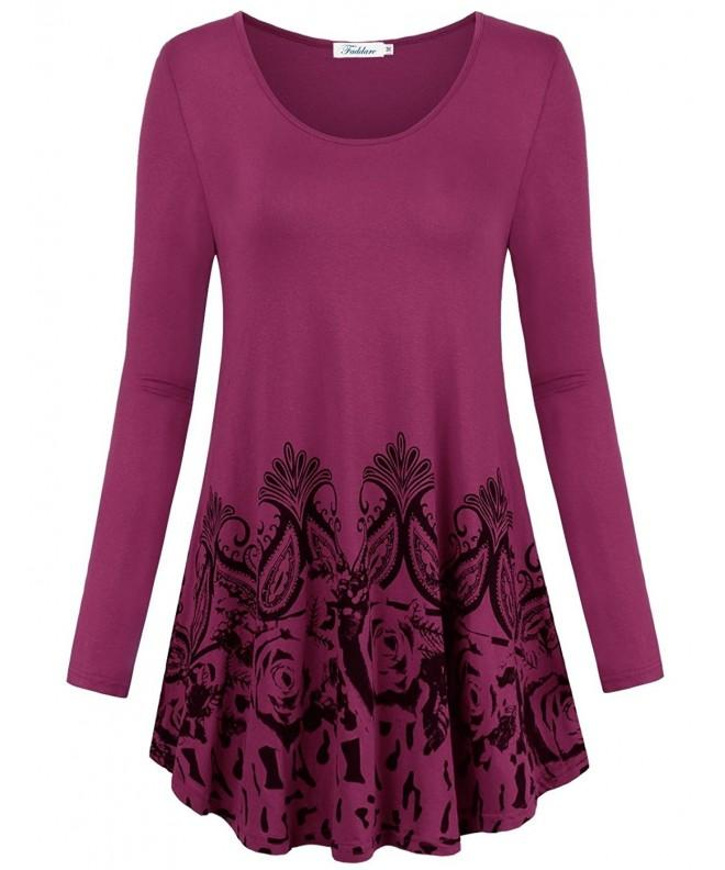 Faddare Sleeve Tunics Patterns Burgandy