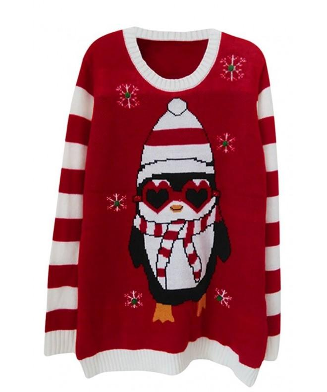 Viottis Christmas Sweaters Pullover Penguin