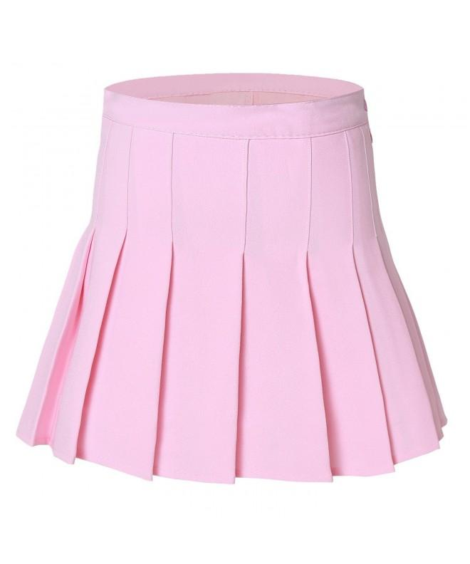WomenSolid Pleated Sport Tennis Skirts