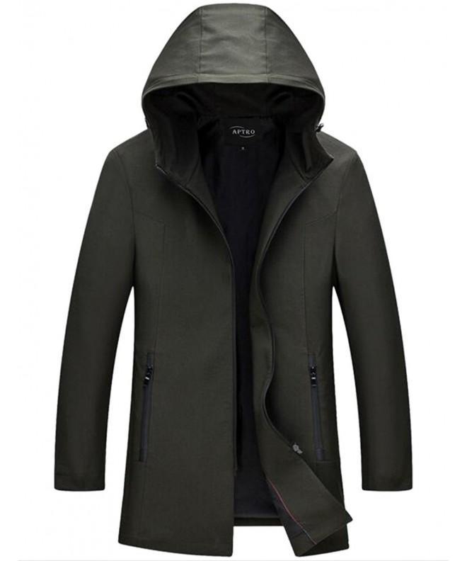 APTRO Hooded Zipper Windbreaker Jacket