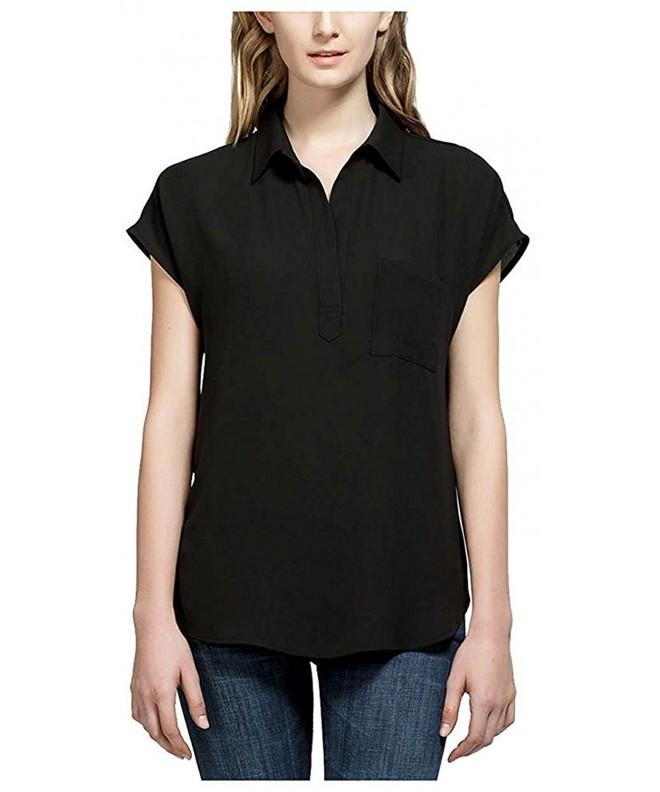 Pleione Ladies Short Sleeve Blouse