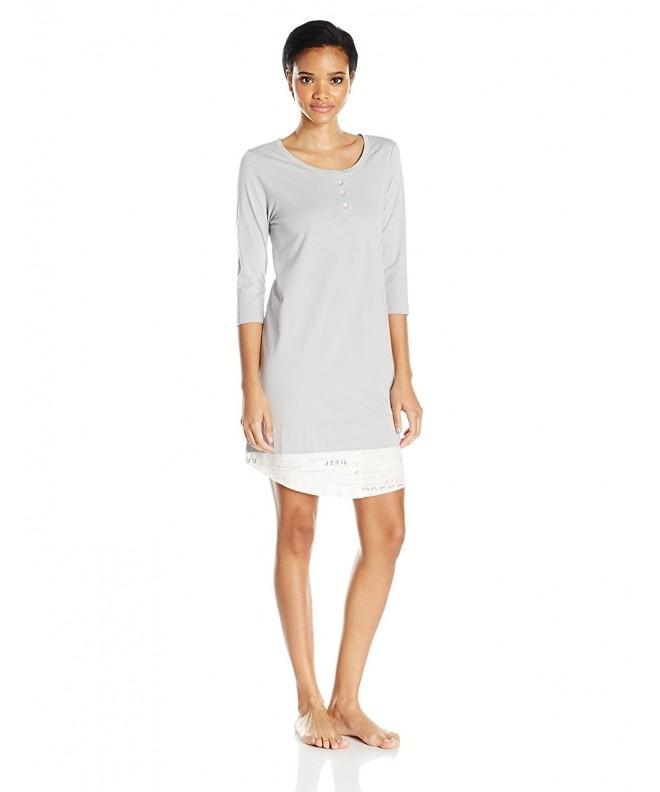 HUE Womens Dream Sleepshirt Sterling