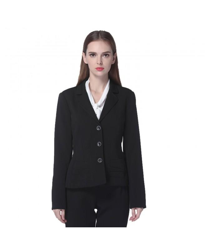 MAXDESIGN Womens Sleeves Office Blazers
