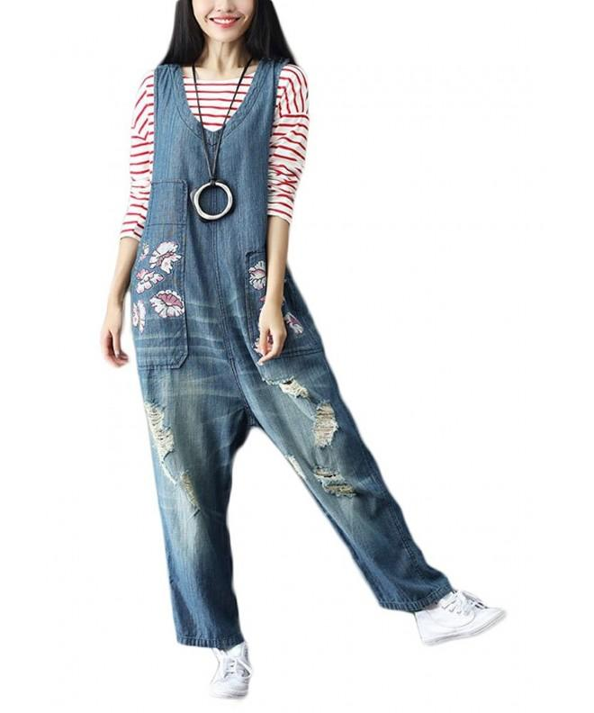 Soojun Distressed Jumpsuit Rompers Overalls