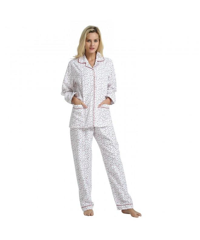 GLOBAL Womens Cotton Pajama Sleepwear