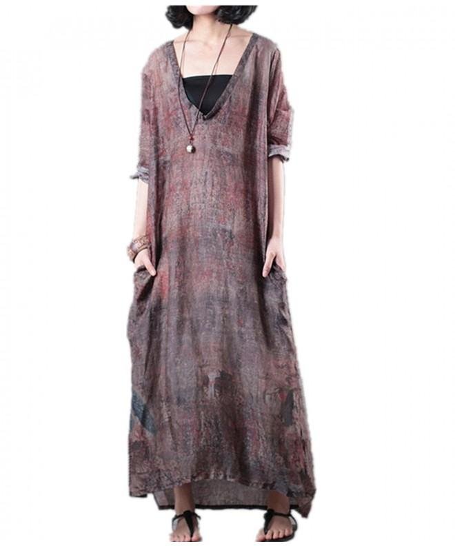 YESNO Caftan Printed Hi Low Sleeve