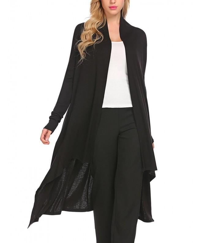 Concep Womens Sleeve Asymmetric Cardigans