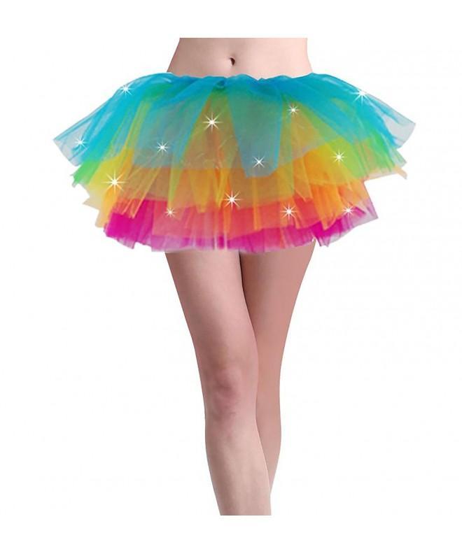 Women Light Rainbow Party Dance