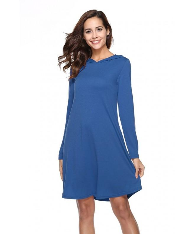 POGTMM Sleeve Sweatshirt Dresses Women
