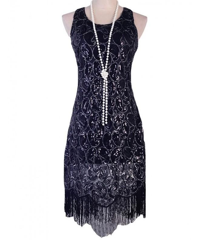 PrettyGuide Paisley Tassels Flapper Cocktail