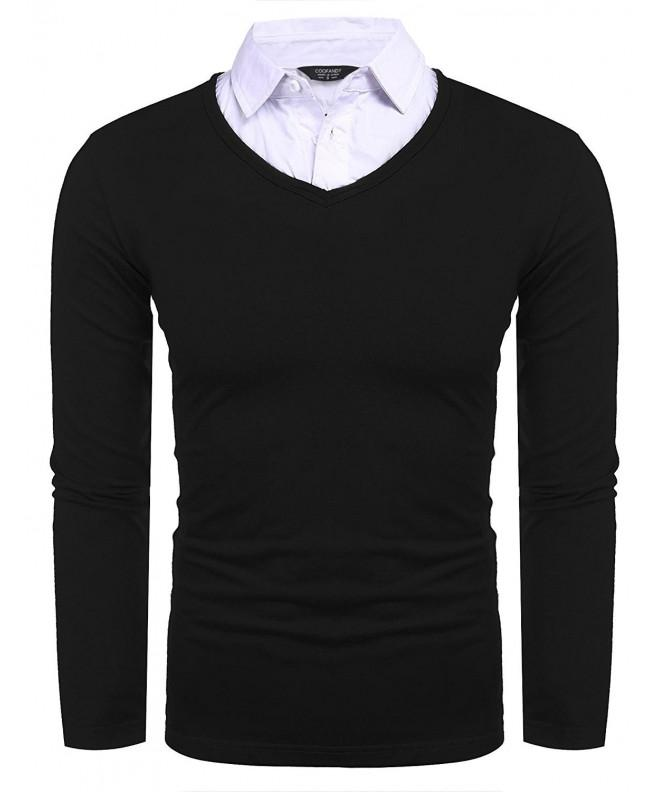 COOFANDY Casual Piece Collar Sleeve