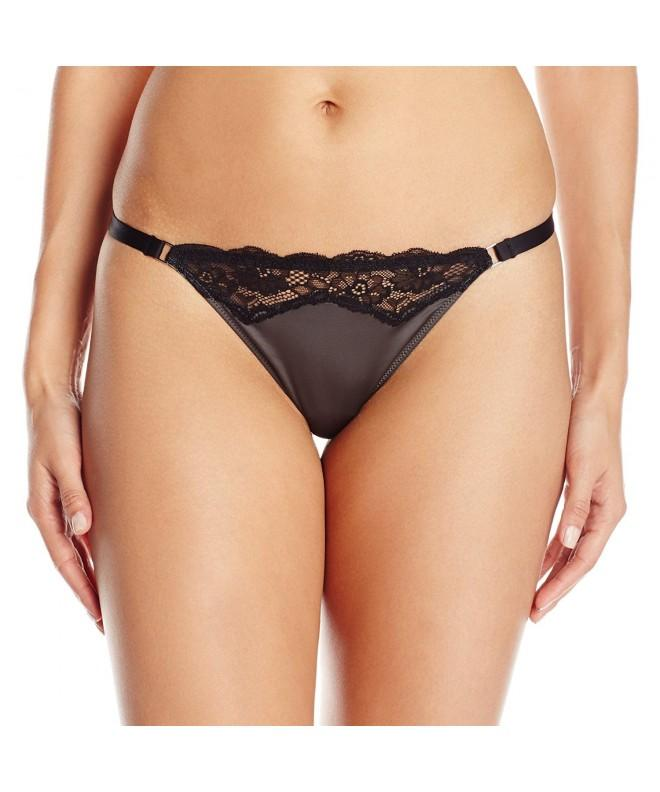 Felina Womens Entre Doux Thong Black Medium