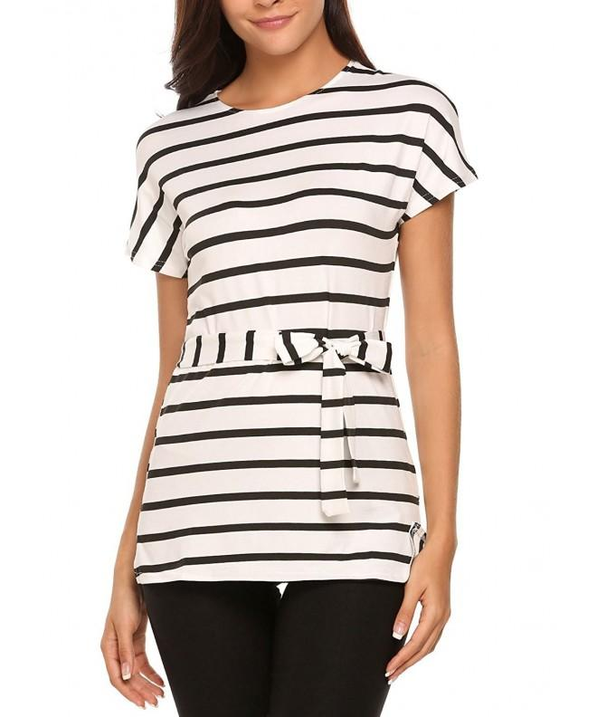 Easther Striped T shirt Stripes Blouses