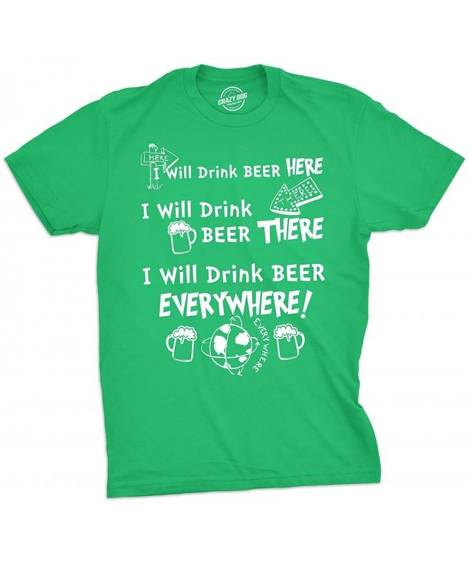 Drink Everywhere Tshirt Funny Patricks