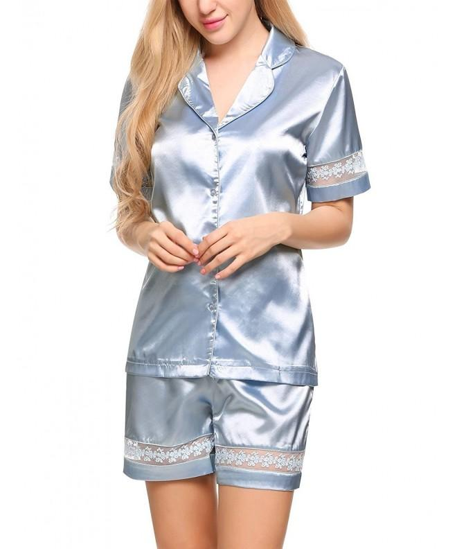 Langle Sleeve Nightgowns Embroidery Sleepwear