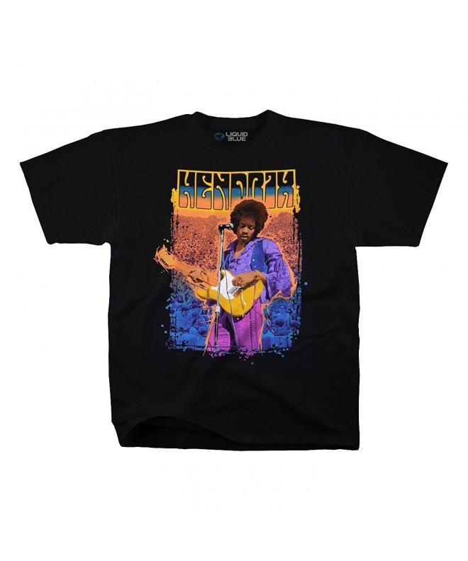 Jimi Hendrix Stone Adult T Shirt