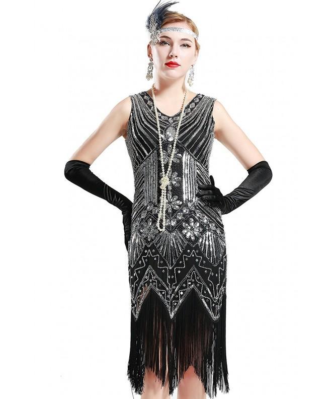 BABEYOND Womens Flapper Dresses Fringed