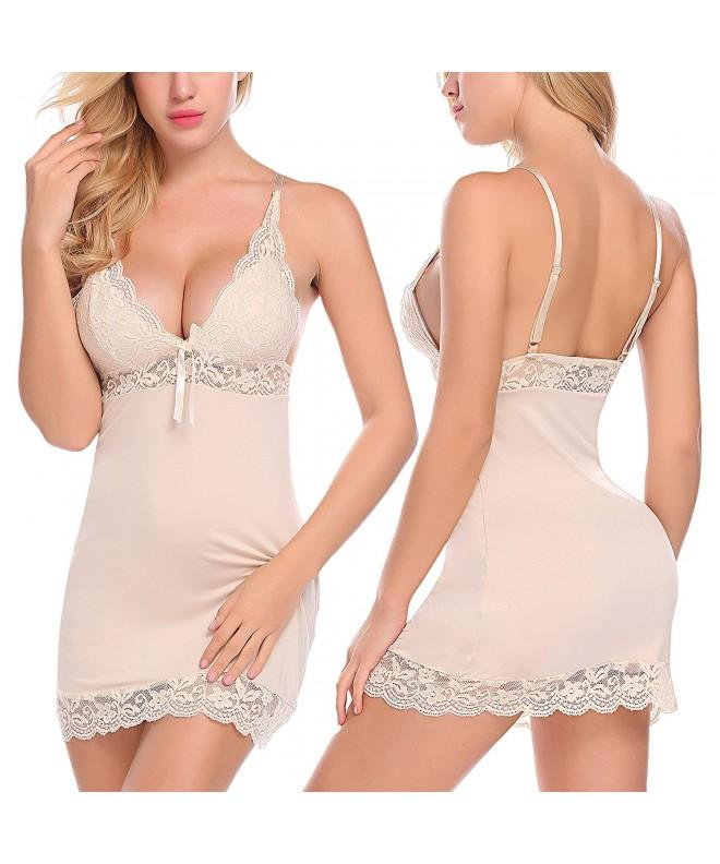 ADOME Sleepwear Nightgown Chemise Lingerie