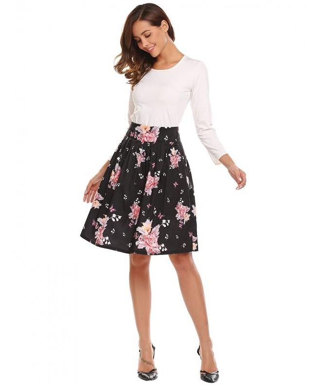 Shine Pleated Floral Womens Vintage